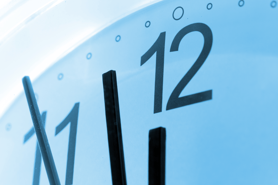 clock showing time running our for company filing deadlines