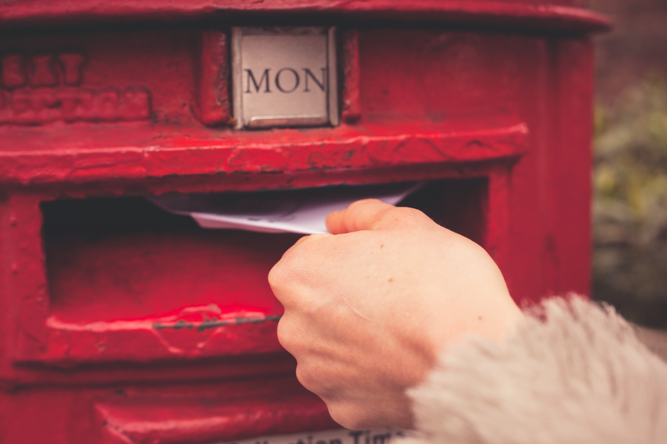 post box and letter