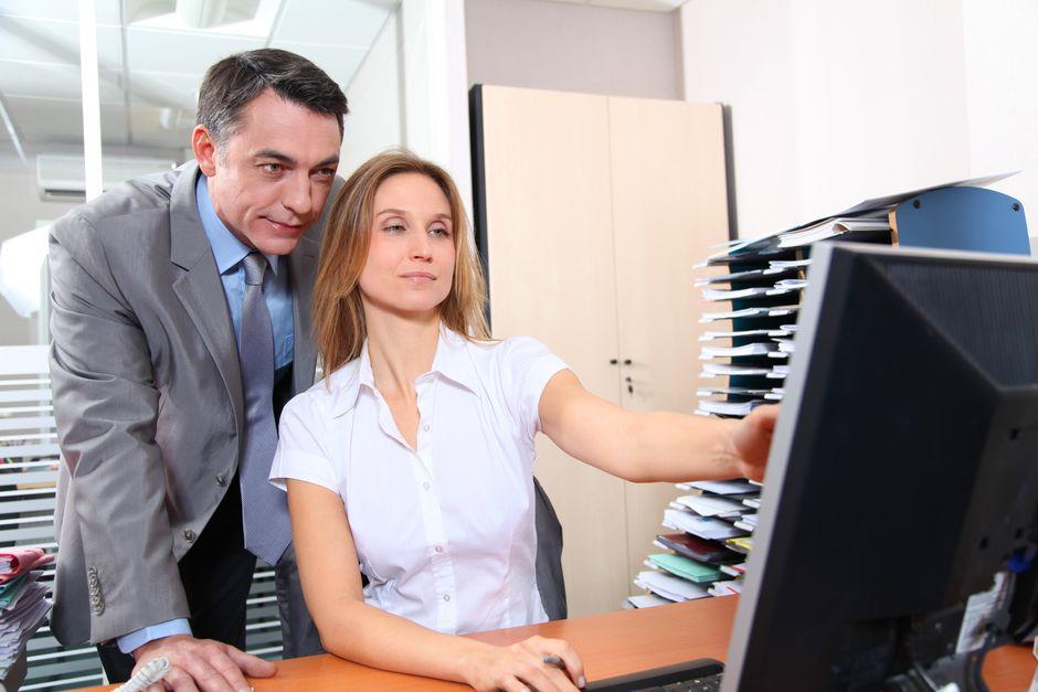 Businessman checking SIC Code